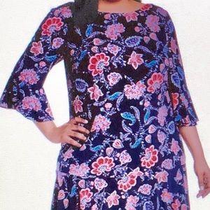 Eliza J bell Sleeve sheath dress size 18W Zip, NWT